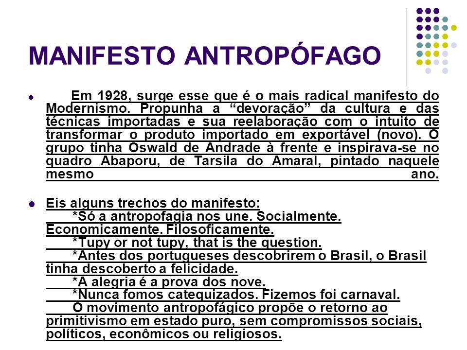 MANIFESTO ANTROPÓFAGO
