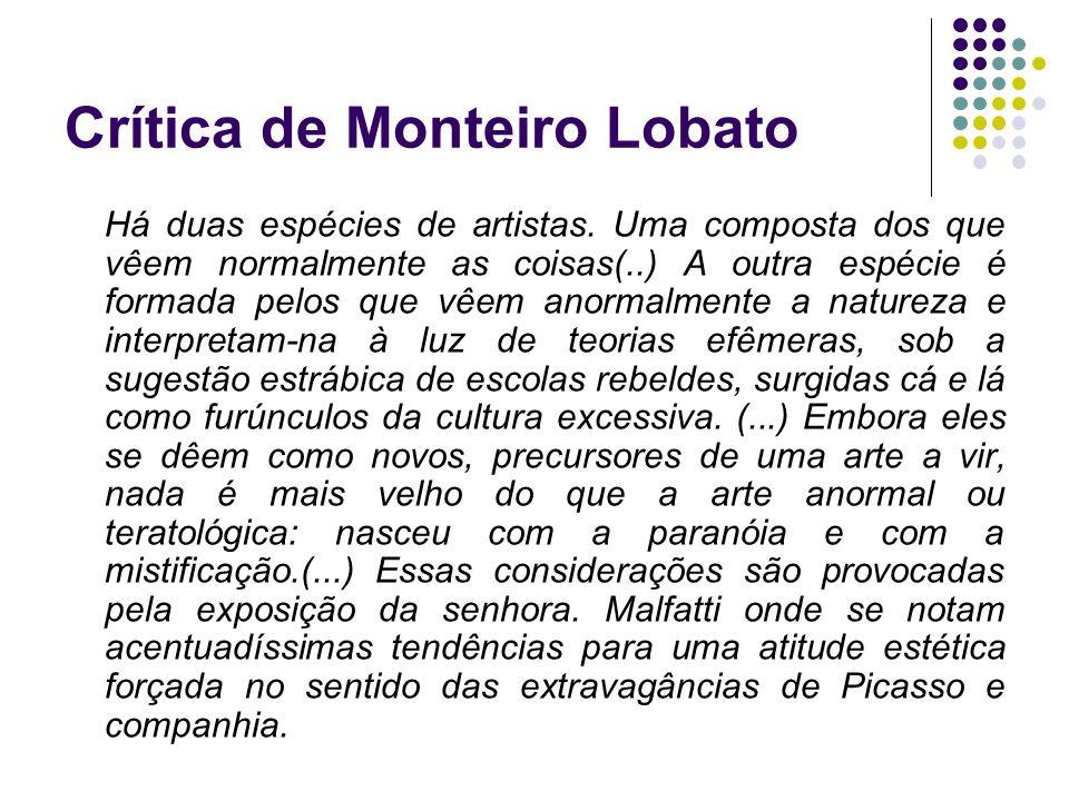 Crítica de Monteiro Lobato
