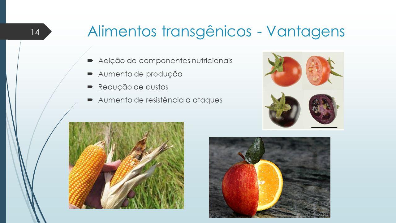 Alimentos transgênicos - Vantagens