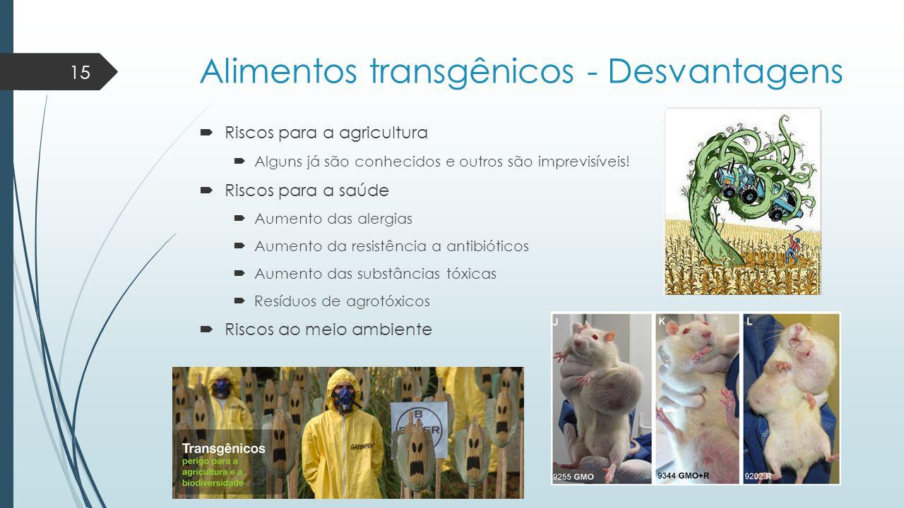 Alimentos transgênicos - Desvantagens