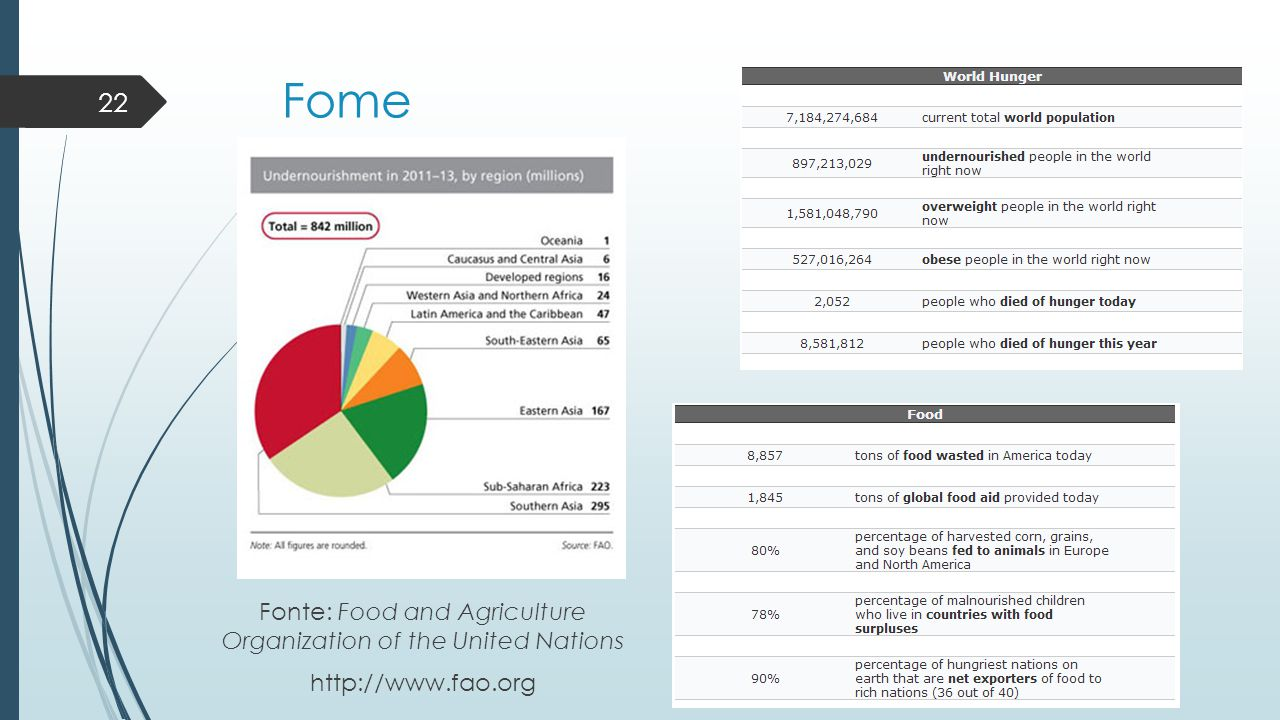 Fonte: Food and Agriculture Organization of the United Nations