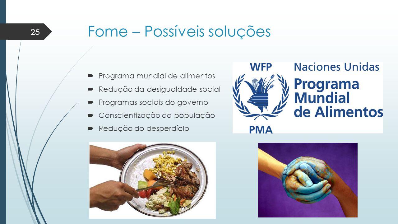 Fome – Possíveis soluções