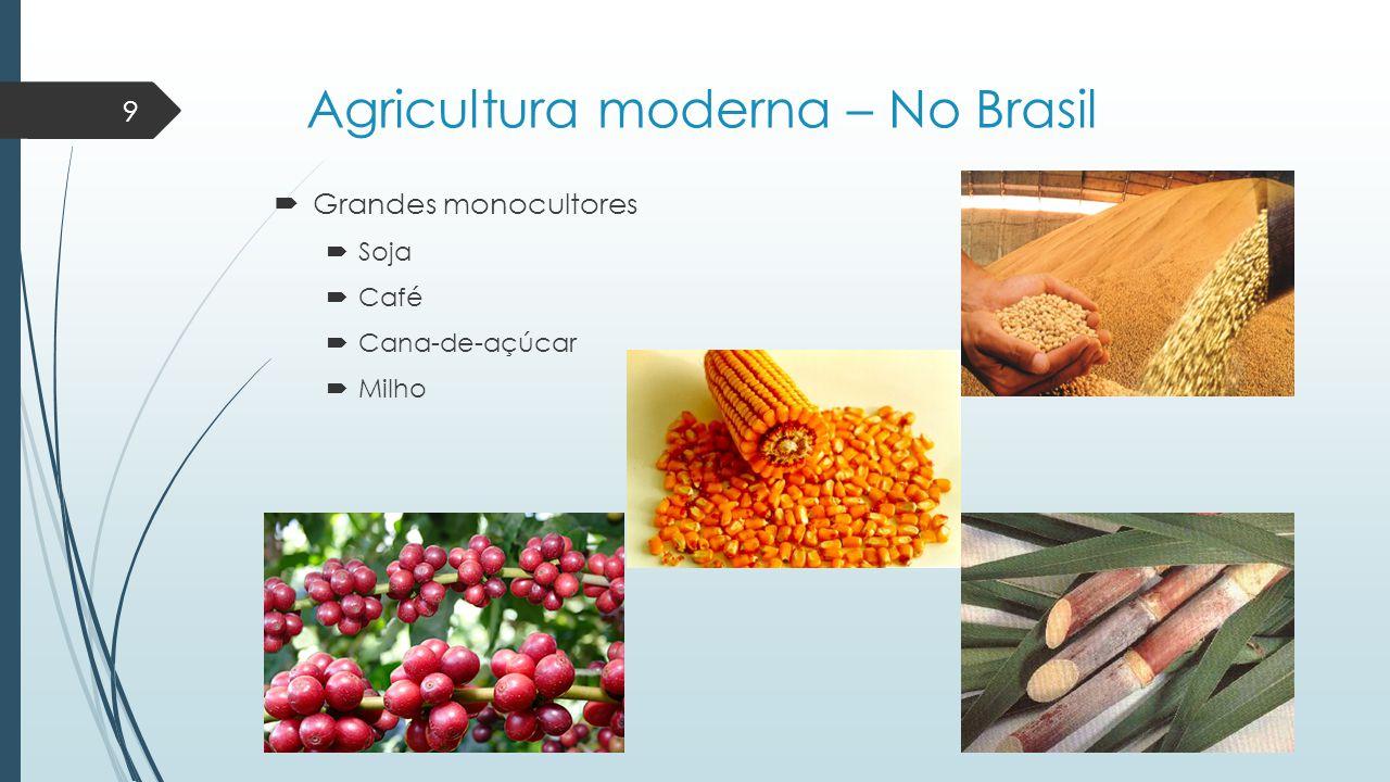 Agricultura moderna – No Brasil