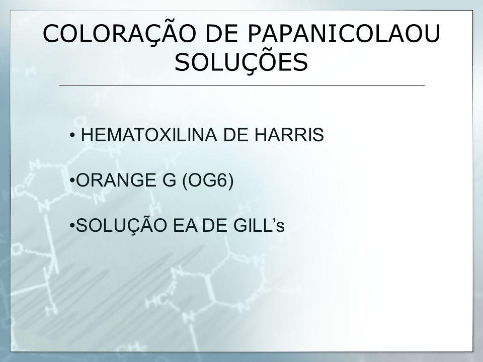 COLORAÇÃO DE PAPANICOLAOU SOLUÇÕES