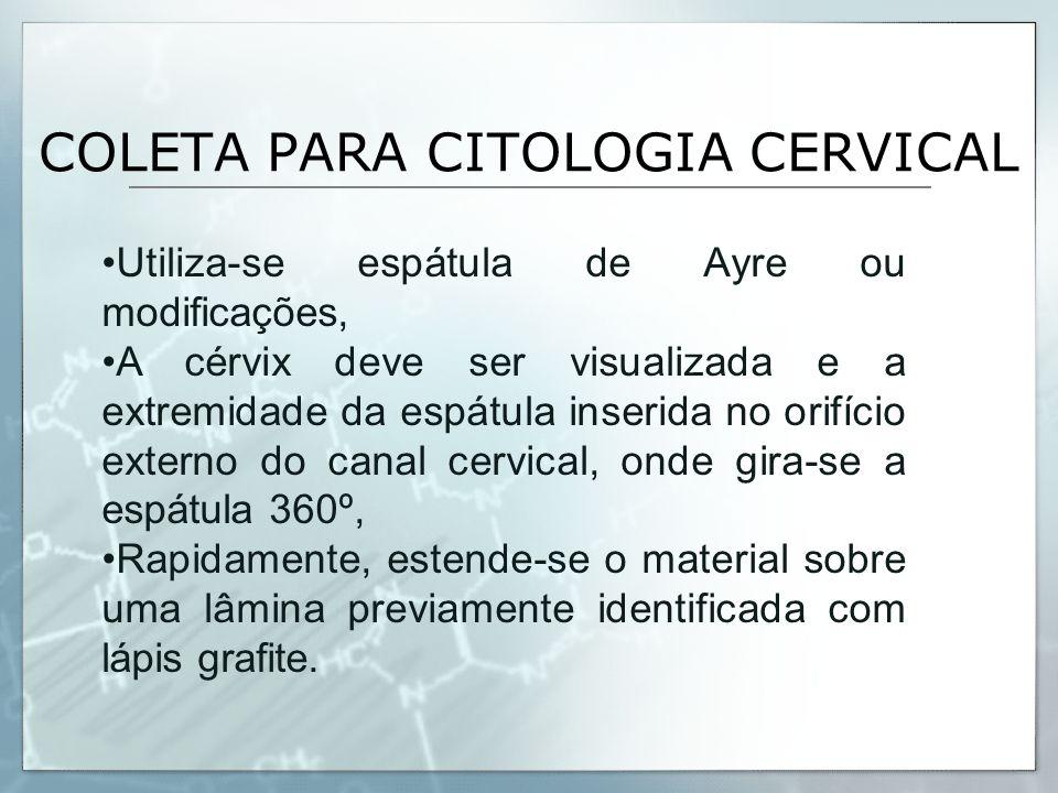 COLETA PARA CITOLOGIA CERVICAL