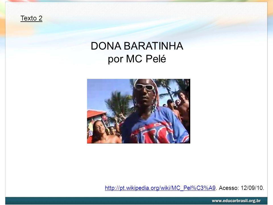 DONA BARATINHA por MC Pelé Texto 2