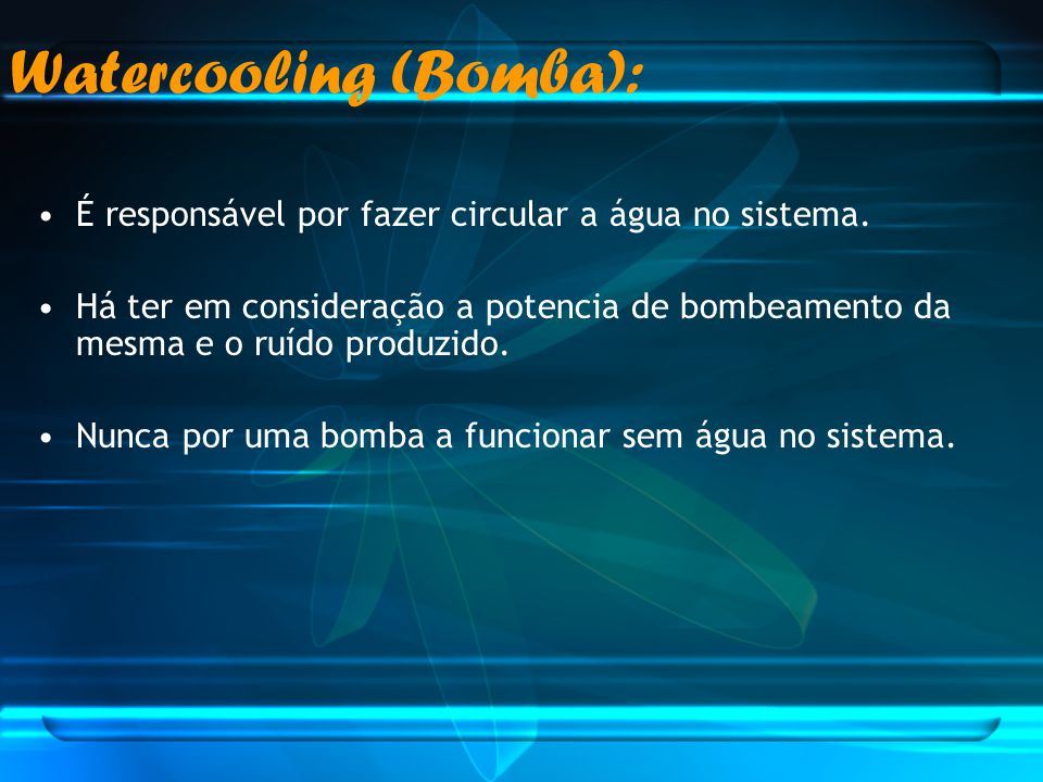 Watercooling (Bomba):