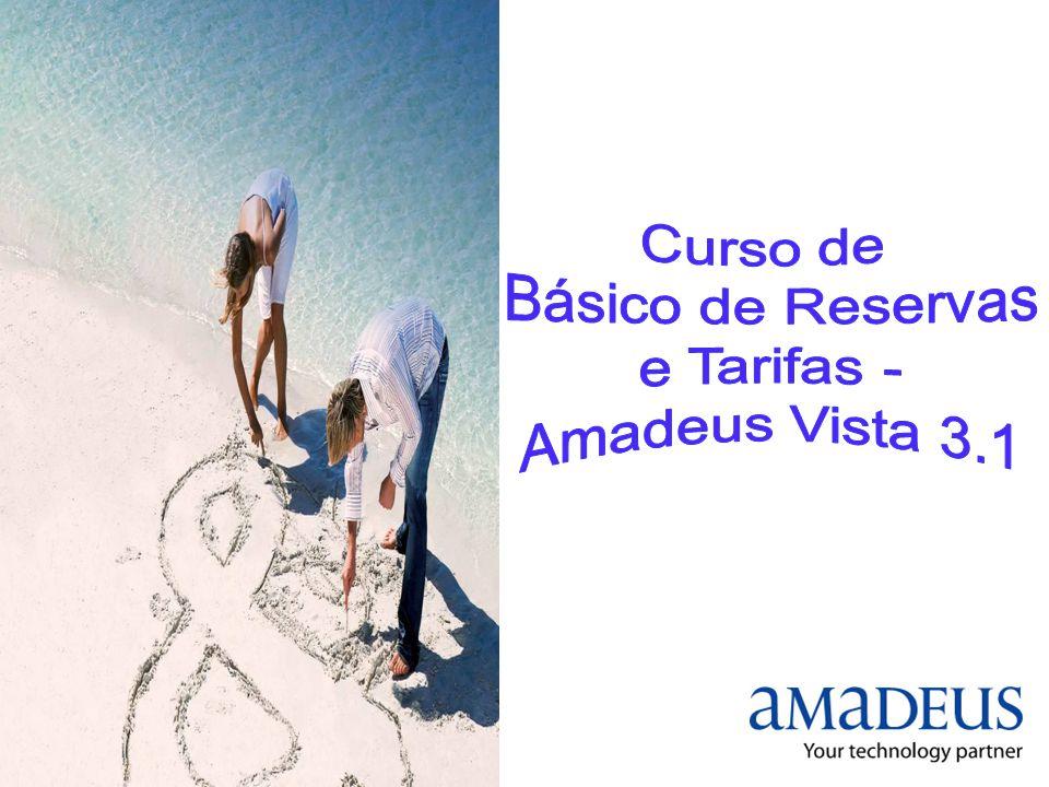 Curso de Básico de Reservas e Tarifas - Amadeus Vista 3.1
