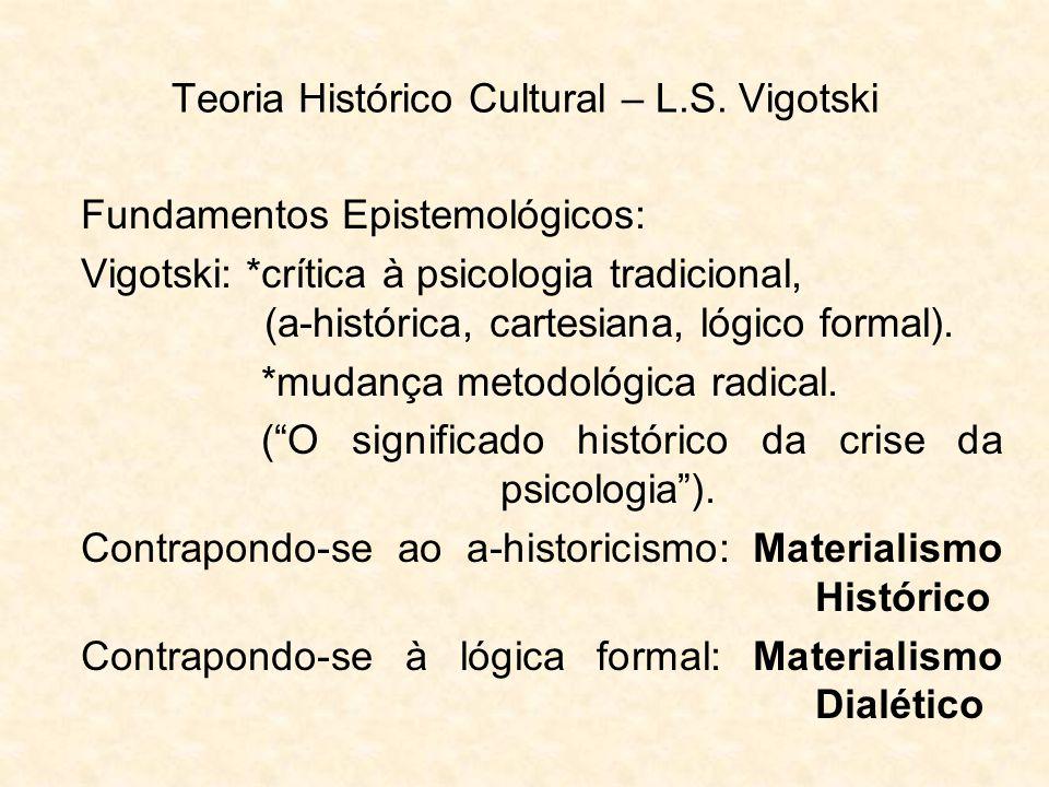 Teoria Histórico Cultural – L.S. Vigotski