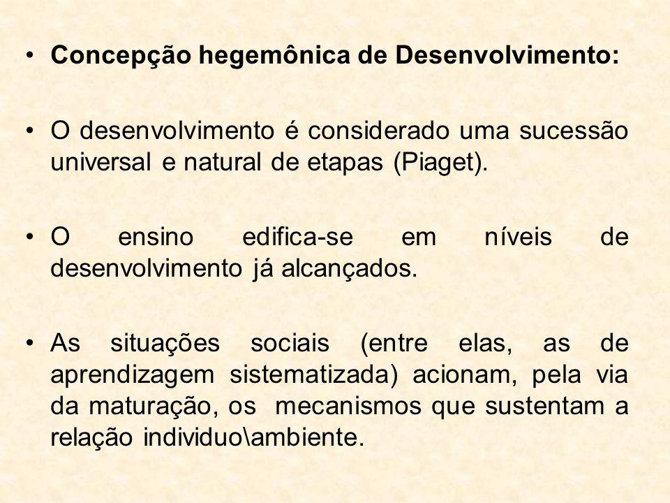 Concepção hegemônica de Desenvolvimento: