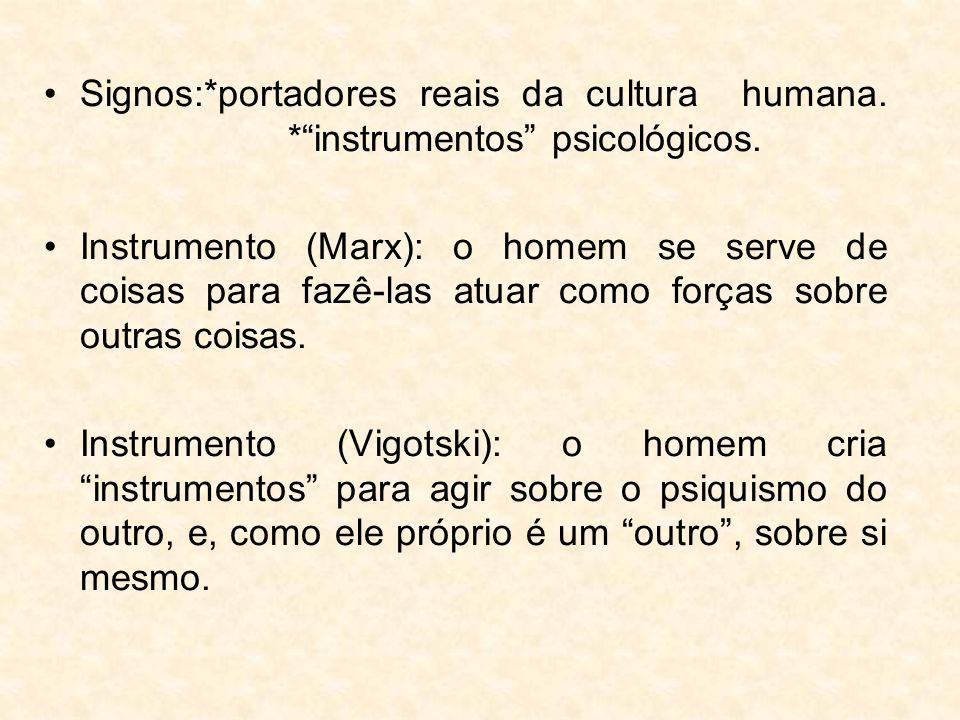 Signos:. portadores reais da cultura humana