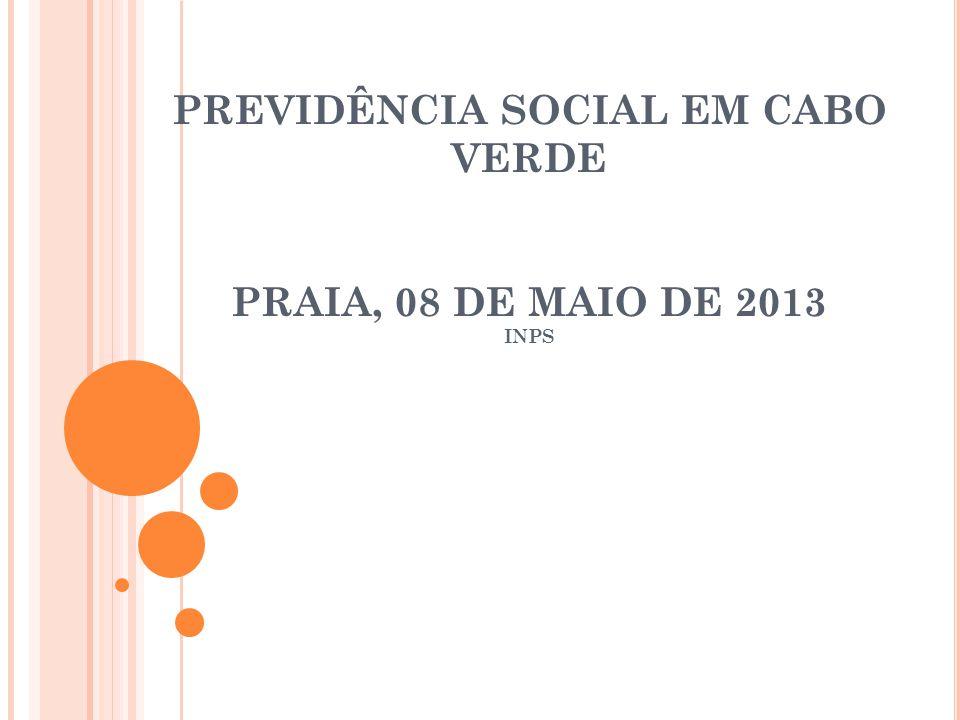 PREVIDÊNCIA SOCIAL EM CABO VERDE PRAIA, 08 DE MAIO DE 2013 INPS