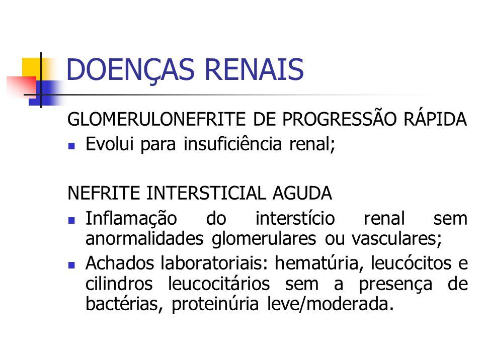 DOENÇAS RENAIS GLOMERULONEFRITE DE PROGRESSÃO RÁPIDA