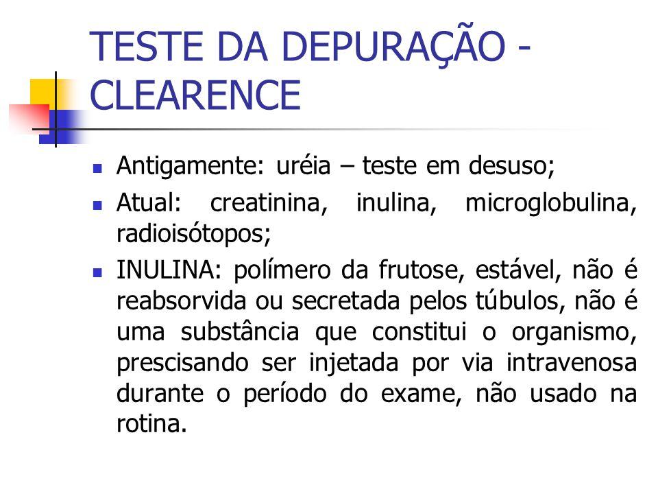 TESTE DA DEPURAÇÃO - CLEARENCE