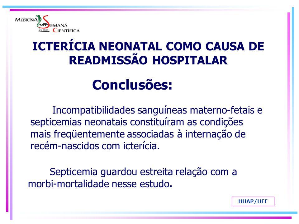 ICTERÍCIA NEONATAL COMO CAUSA DE READMISSÃO HOSPITALAR