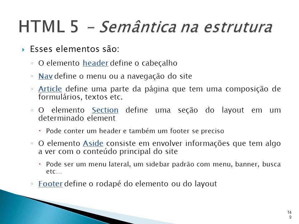 HTML 5 - Semântica na estrutura