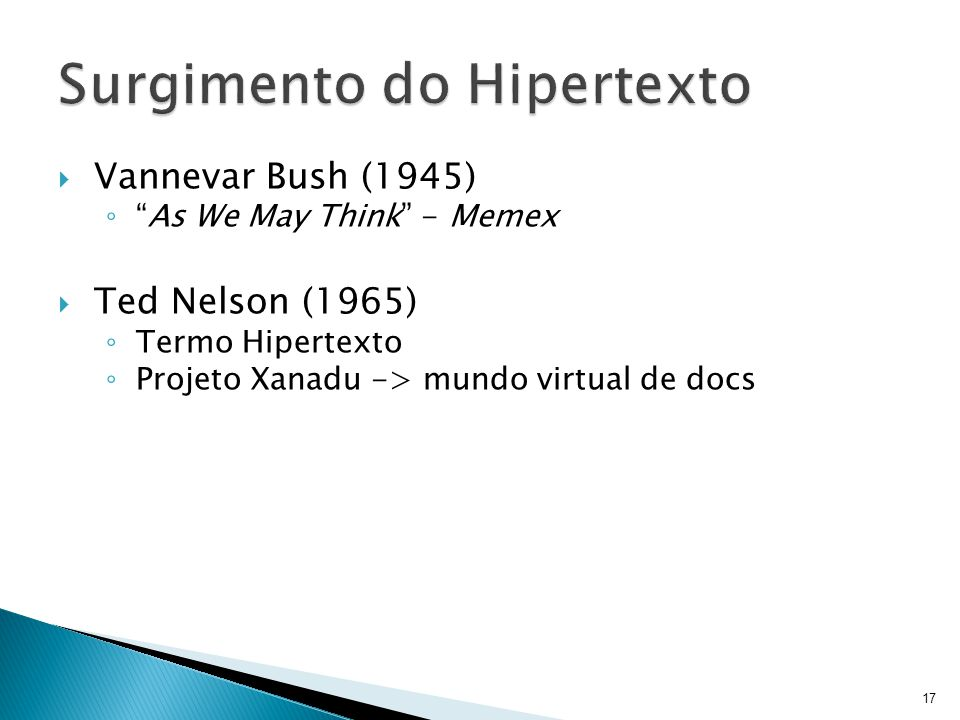 Surgimento do Hipertexto