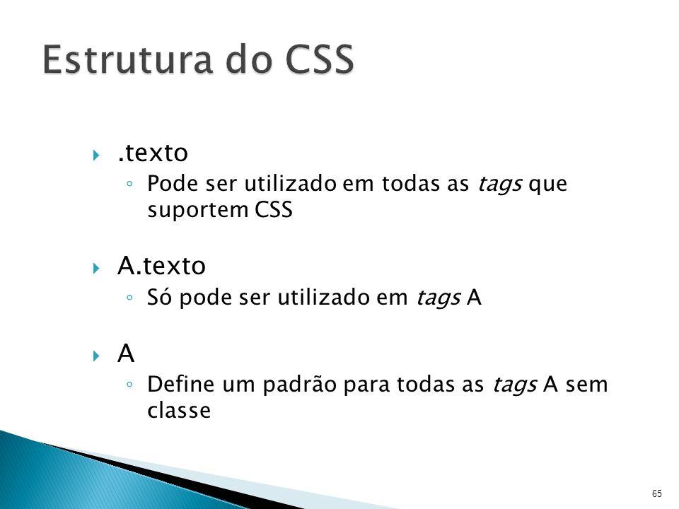 Estrutura do CSS .texto A.texto A