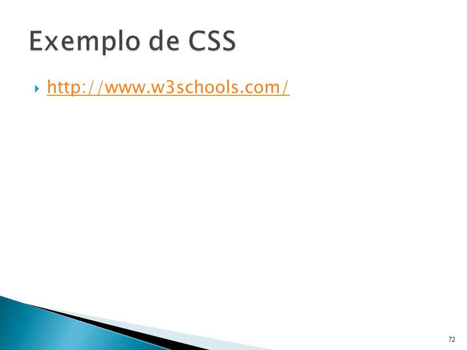 Exemplo de CSS http://www.w3schools.com/