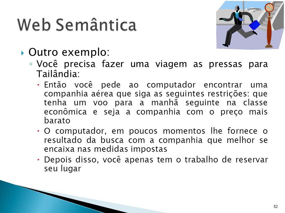 Web Semântica Outro exemplo:
