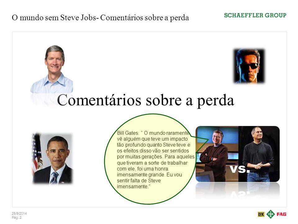 O mundo sem Steve Jobs- Comentários sobre a perda