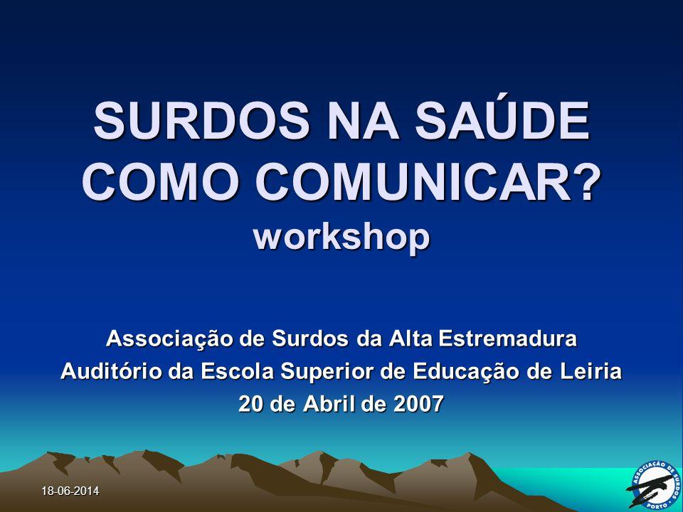 SURDOS NA SAÚDE COMO COMUNICAR workshop