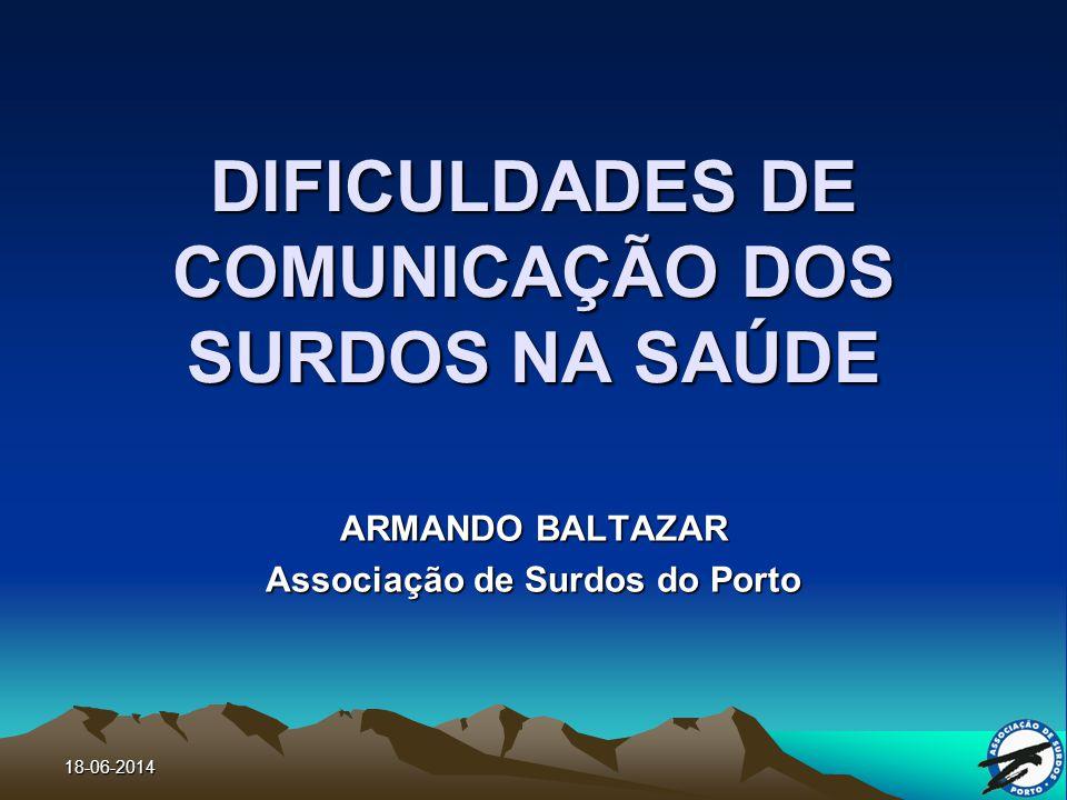 DIFICULDADES DE COMUNICAÇÃO DOS SURDOS NA SAÚDE