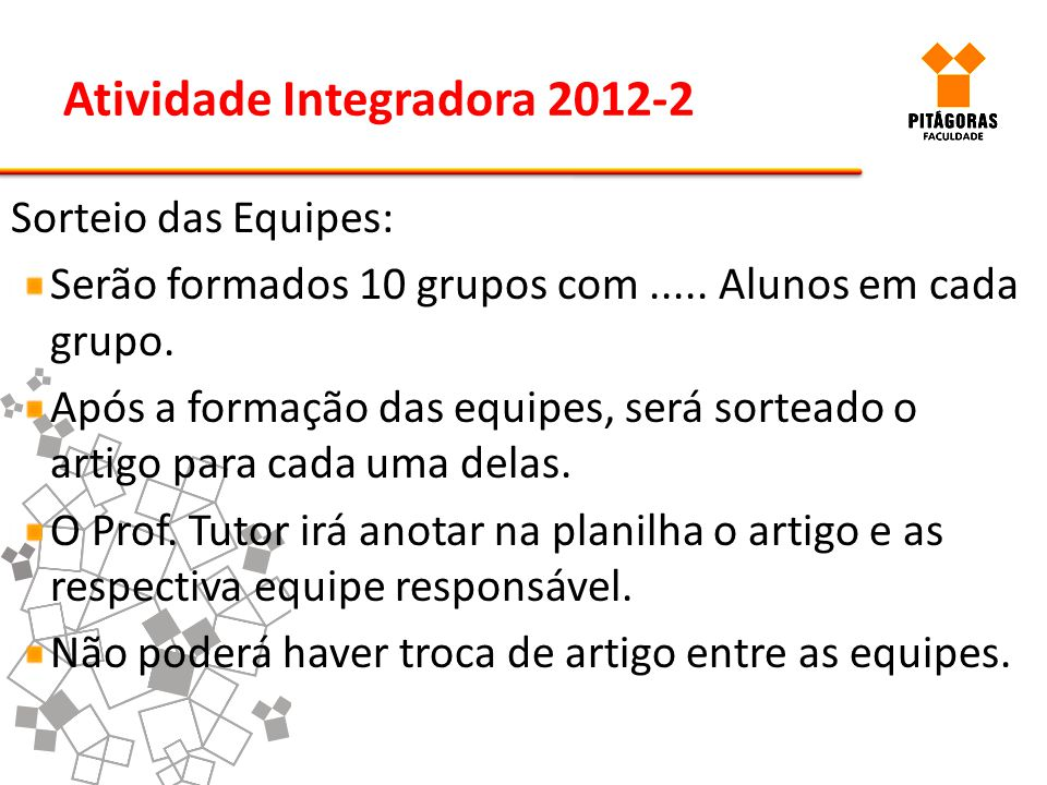 Atividade Integradora 2012-2