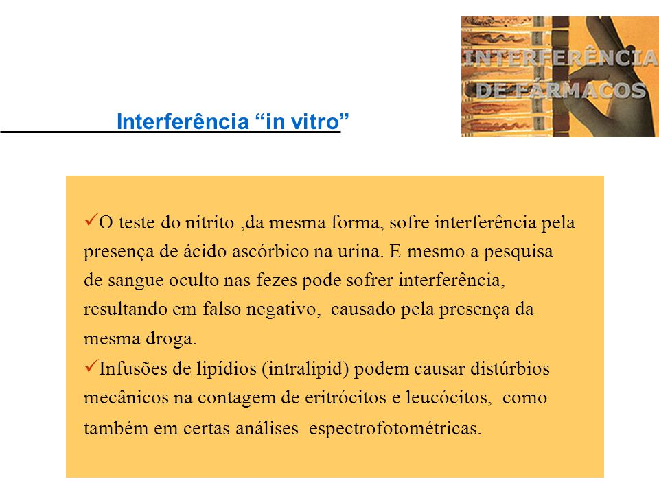Interferência in vitro