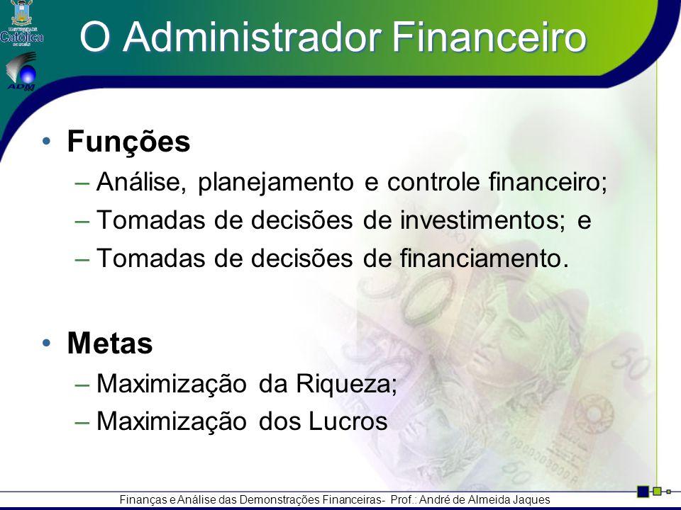 O Administrador Financeiro