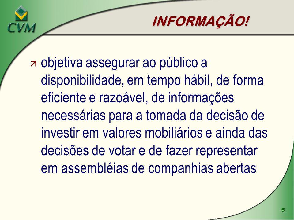 INFORMAÇÃO!