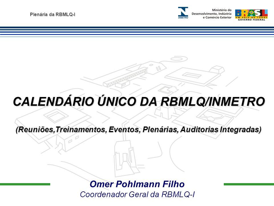 CALENDÁRIO ÚNICO DA RBMLQ/INMETRO