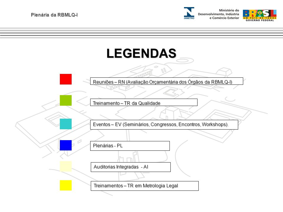 LEGENDAS Reuniões – RN (Avaliação Orçamentária dos Órgãos da RBMLQ-I)