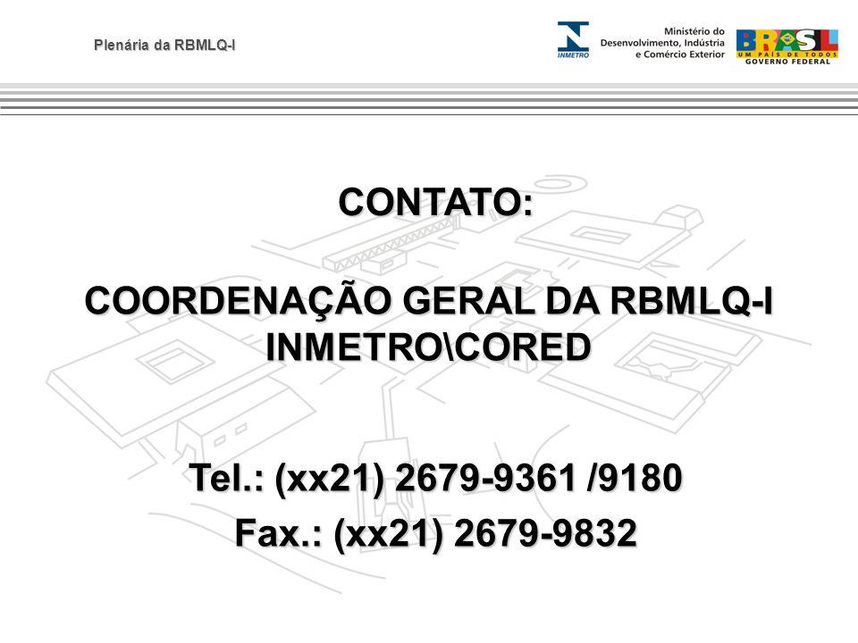 COORDENAÇÃO GERAL DA RBMLQ-I INMETRO\CORED