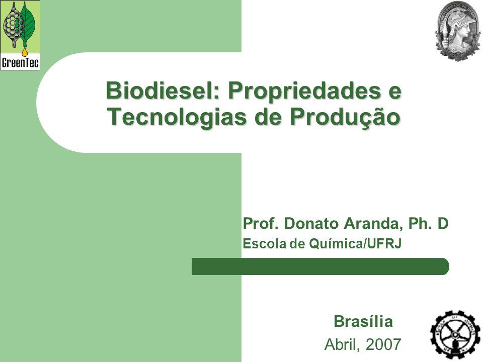 Biodiesel: Propriedades e Tecnologias de Produção