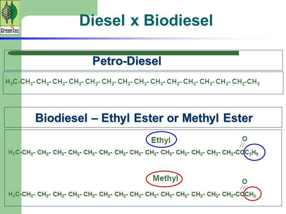 Diesel x Biodiesel Petro-Diesel