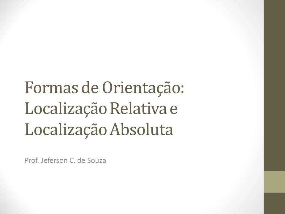 Formas de Orientação: Localização Relativa e Localização Absoluta