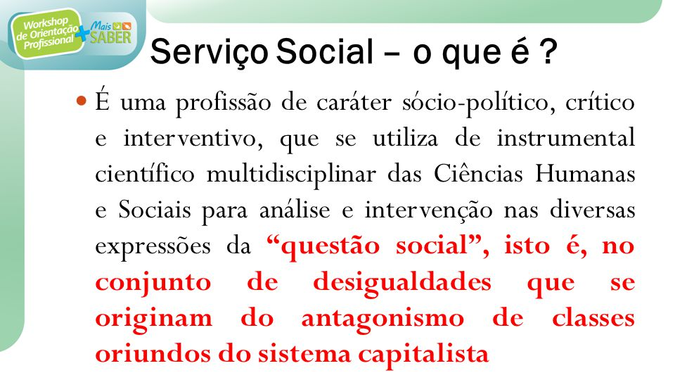 Serviço Social – o que é