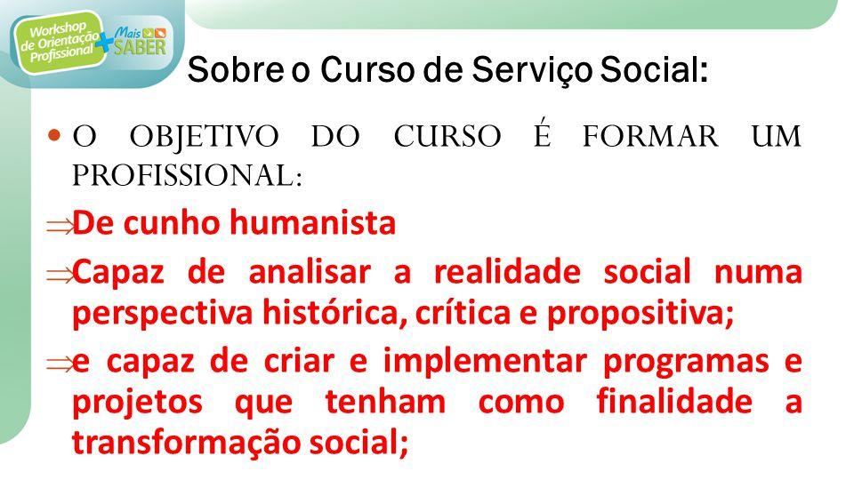 Sobre o Curso de Serviço Social: