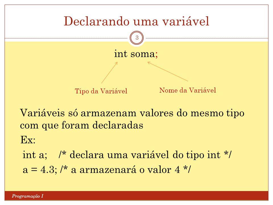 Declarando uma variável