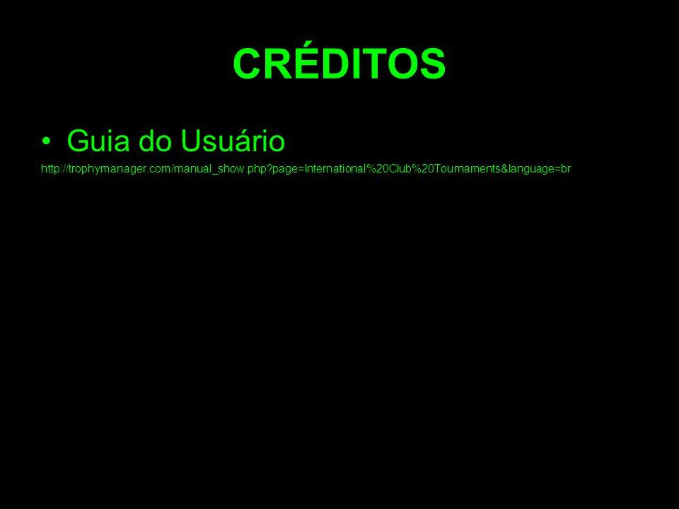 CRÉDITOS Guia do Usuário