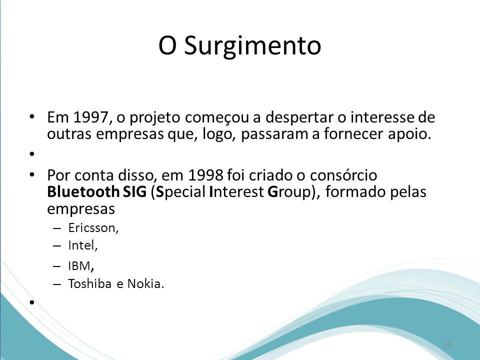 O Surgimento Em 1997, o projeto começou a despertar o interesse de outras empresas que, logo, passaram a fornecer apoio.