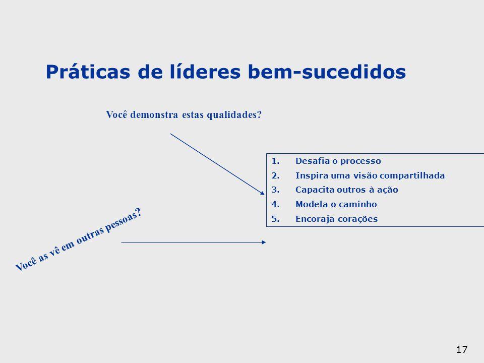 Práticas de líderes bem-sucedidos
