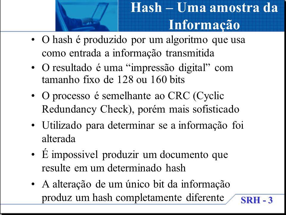 Hash – Uma amostra da Informação