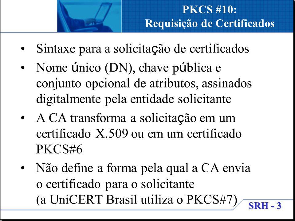 PKCS #10: Requisição de Certificados