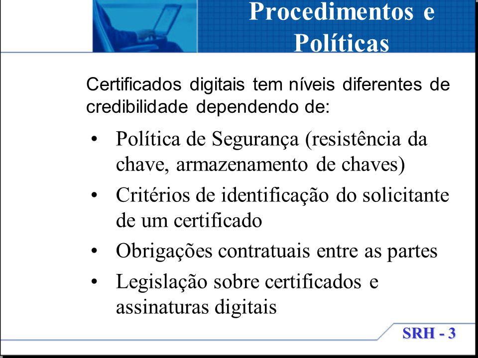 Procedimentos e Políticas