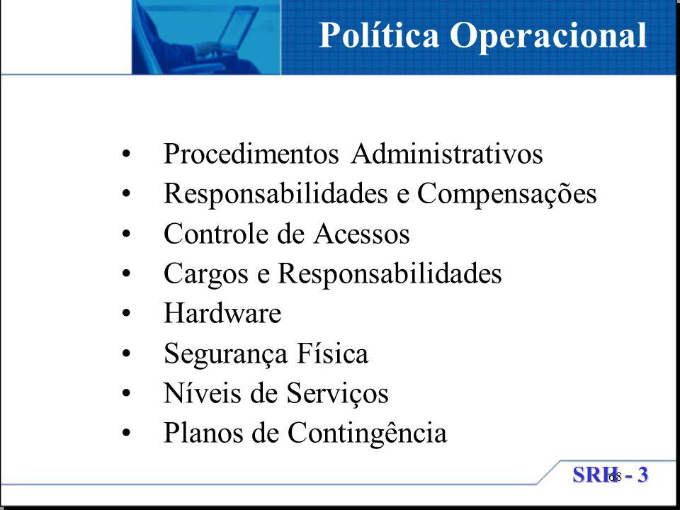 Política Operacional Procedimentos Administrativos