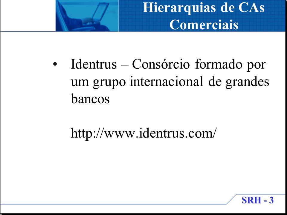 Hierarquias de CAs Comerciais