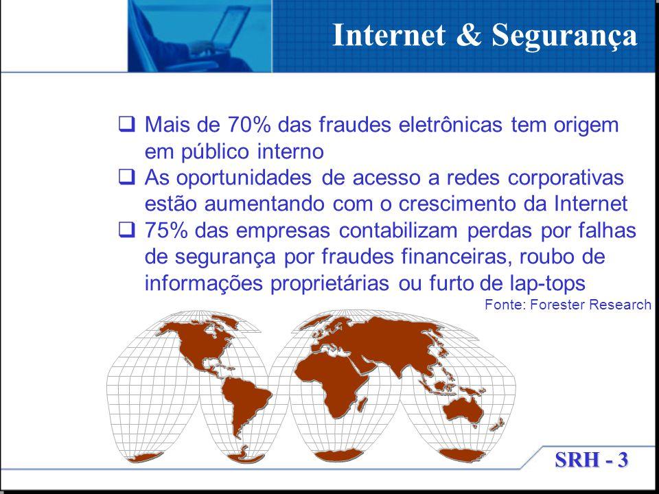 Internet & Segurança Mais de 70% das fraudes eletrônicas tem origem em público interno.