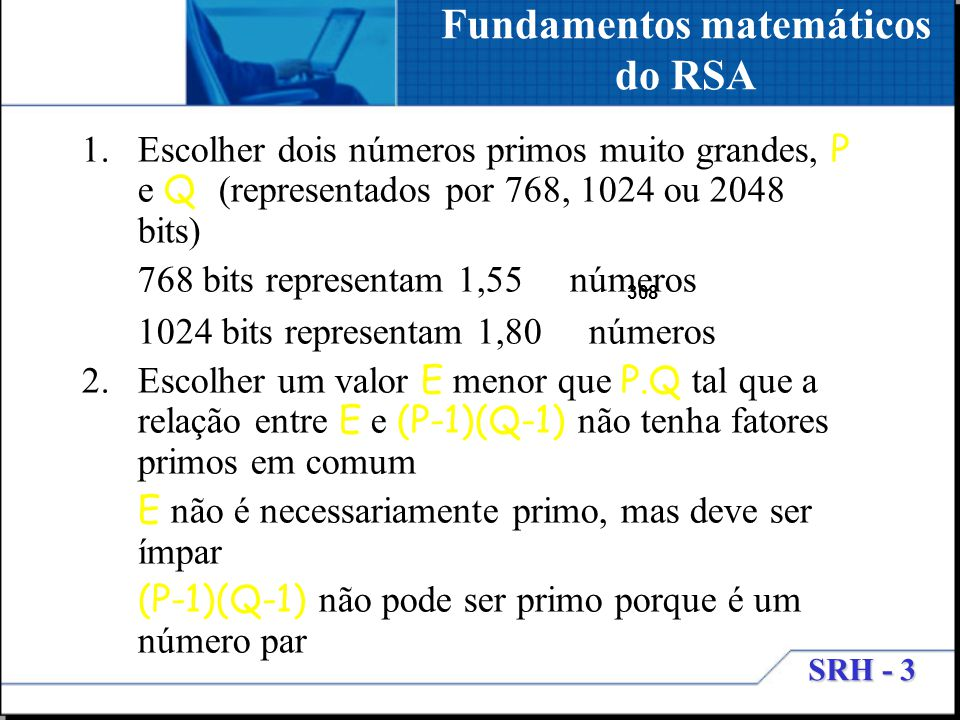 Fundamentos matemáticos do RSA